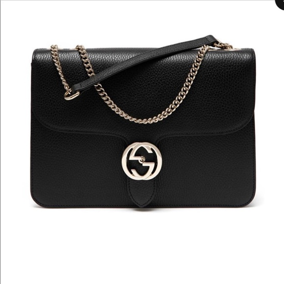 259d1536ac1b Gucci New 510303 Large Black Leather Shoulder bag